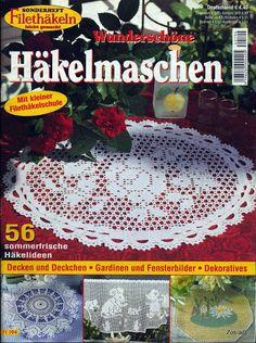 FiletHakeln Sonderheft - FI 194 Hakelnmaschen - Aypelia - Álbuns da web do Picasa Crochet Books, Thread Crochet, Crochet Doilies, Crochet Lace, Filet Crochet, Crochet Chart, Love Crochet, Crochet Patterns, Knitting Magazine