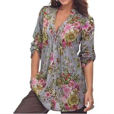 Hot trending item: Plus Size Women B... Check it out here! http://jagmohansabharwal.myshopify.com/products/plus-size-women-blouses-sexy-v-neck-long-sleeve-shirts-women-new-brand-shirt-with-dot-florals-womens-blouse-chiffon?utm_campaign=social_autopilot&utm_source=pin&utm_medium=pin
