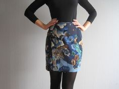 Kenzo skirt size S mini skirt vintage 90s fashion - pinned by pin4etsy.com
