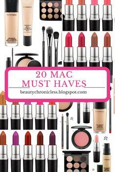 20 MAC COSMETICS MUST HAVEs