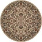 Persian Classics Mahal Ivory 7 ft. 10 in. Round Area Rug