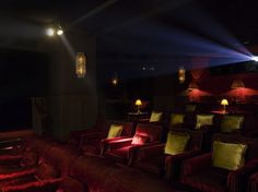 Would not at all mind a small movie theater in my house.