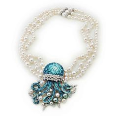 Necklace in white gold 18 carats, diamonds, Akoya Pearls and Thaiti pearls and micromosaic by SICIS Jewels