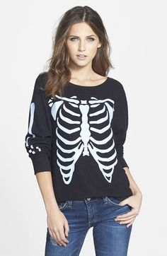 Free shipping and returns on Wildfox 'Inside Out' Long Sleeve Sweatshirt at Nordstrom.com. With a ribcage on the front panel and arm bones on the sleeves, this long-sleeve sweatshirt will help you style for the Halloween season.