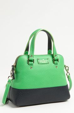 navy and green // kate spade