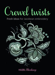 Book:  Crewel Twists by Hazel Blomkamp. 160 pages. Whether you refer to it as crewel or Jacobean, this free form of surface embroidery has been around for centuries and is still popular amongst needle artists today. Because of the nature of the fanciful objects and the tradition of using a large variety of stitches in one project, it lends itself to endless creative expression.  http://www.australianneedlearts.com.au/crewel-twists-hazel-blomkamp#