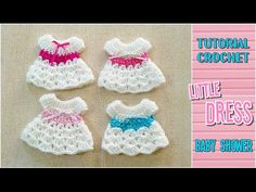 DIY Crochet little dress for baby shower - Tutorial