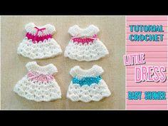 DIY Crochet little dress for baby shower - Tutorial