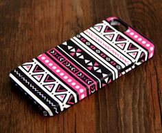 Aztec Pink Geometric iPhone 6 Plus/6/5S/5C/5/4S/4 3D Wrap Case