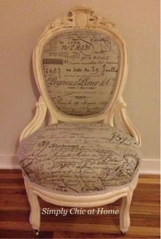 Simply Chic at Home: Antique Victorian Chair Makeover