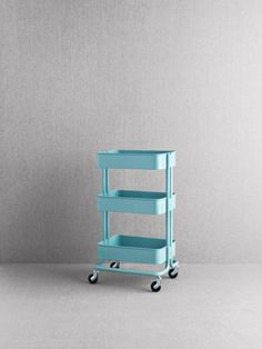 """RÅSKOG was inspired by industrial carts, like the ones you used to find in factories. I like the fact that it's almost like a tool in its own right. It's a real do-everything cart that you can wheel around your home."""" IKEA Designer Nike Karlsson - Cart price is $49.99"""