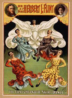 National Printing & Engraving Company. Mr. & Mrs. Herbert L. Flint; The Flint's Hypnotic Skirt Dance. [1895]. Library of Congress.