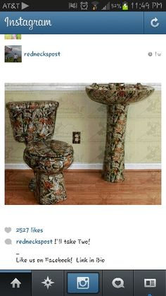 Camo toilet