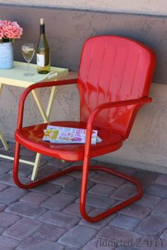 Vintage Patio Chair Makeover