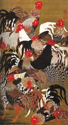 Ito Jakuchu: Roosters