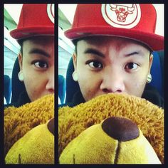 Looks like AJ Rafael has found the key to youth. Teddy bears! Yay!