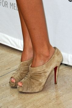 Christian Louboutin Ruched Ankle Boots - Ashley Tisdale