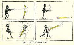 Perhaps the best #JeSuisCharlie cartoon yet...
