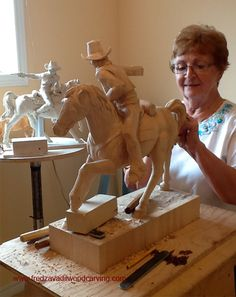 Wood Carving Class Nice tricks and tips. Would love to carve that horse and rider.