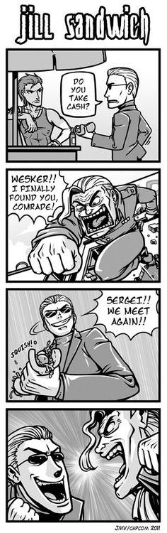 Jill Sandwich - When Sergei meet Wesker