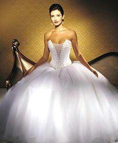Big puffy princess wedding dress