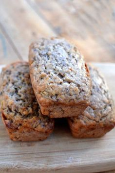 banana bread  Site says: I've tried numerous banana bread recipes over the years, and this is definitely one of my favorites. It has a slew of rave reviews over at allrecipes.com (where I found it).
