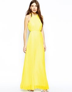 33017f67df Image 4 of Ted Baker Exclusive to ASOS Maxi Dress with Lace Panel Yellow Maxi  Dress