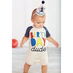 "Confetti speckle cotton knit covered felt birthday hat features yarn pom-pom topper, ric-rac trim, applied felt ""1"" or ""2"" star and elastic chin strap."