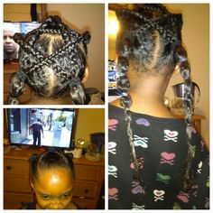 Saw this star hair style online and thought it was too cool so I replicated it. Think I did a good job