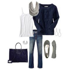 My kind of outfit:) cute and comfortable