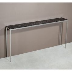 Interlude Home Morell Sofa Table - Chocolate Marble 135094