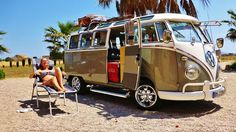 stellar vw bus down by the sea #summertime ☮ #VWBus #volkswagen bus pinned by http://www.wfpblogs.com/author/thomas/