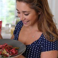 Simply Italian - Articles - Beetroot Pasta with Crispy Pancetta and Sweet Pear Recipe - Channel 4 Pear Recipes, Italian Recipes, Delicious Dinner Recipes, Italian Dishes, Fabulous Foods, Beetroot, Main Meals, No Cook Meals, Pasta Dishes