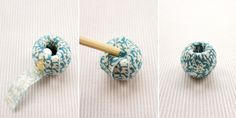 This tutorial will show you how to make beautiful little fabric covered beads. I wrote a fabric necklace tutorial last year which has proved very popular and this one is even simpler, with no sewin...