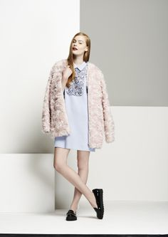 Love the thick wool coat, it can be yours next season. #AW14 #coat #pink