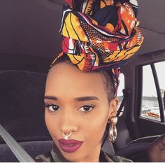 African Inspired Fashion, African Fashion, Black Girl Magic, Black Girls, Style Turban, Head Band, African Head Wraps, How To Wear Scarves, Queen