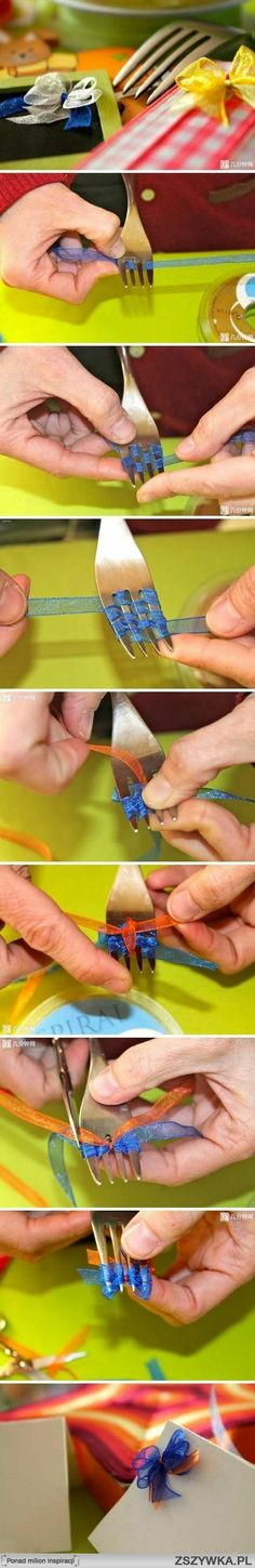 who'd have thought! diy ribbon w/ a fork