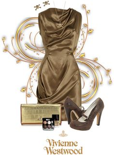 """Golden Glamour by Vivienne Westwood"" by chrissykp ❤ liked on Polyvore"