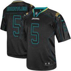 Nike Jaguars  5 Blake Bortles Lights Out Black Men s Stitched NFL Elite  Jersey Super Bowl 60c7a8b36