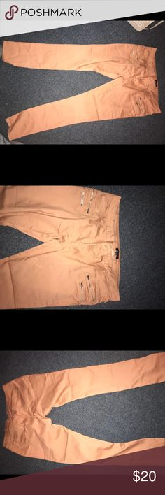 New pulse size 3x skinny pants for women New skinny leg pants. plus size 3x with no tags. Never worn. Has silver zippers on the front . Color is muva very pretty . 68% cotton 29% polyester and 3% spandex. Fits more like and 2x -1x . Plz feel free to leave me an comment. Pants Skinny