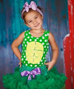 Girls Ninja Turtle Inspired Pettiskirt Halloween Outfit