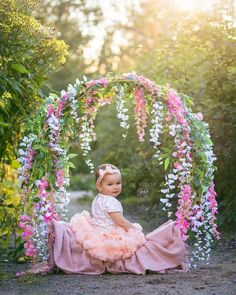 Hanging Hoop Swing Photography for Kids-Plans: - Outdoor - Kinder Swing Photography, Children Photography, Photography Ideas, Outdoor Photography, Newborn Pictures, Baby Pictures, 1st Birthday Photoshoot, Foto Newborn, Girl Photo Shoots