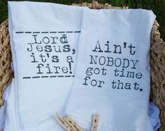 Pair of Sweet Brown Flour Sack Tea Towels by FrenchSilver on Etsy, $18.00 @Emily Randall
