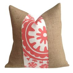 Juliette Pillow in Coral