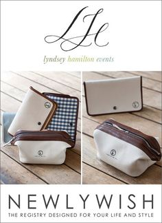 Enter to win a his-and-hers Adirondack bag set from Lyndsey Hamilton for Fleabags! Available through NewlyWish  | junebugweddings.com