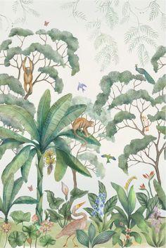 Jungle Wallpaper Mural, Lulu & Georgia, $175