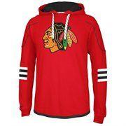 Reebok Chicago Blackhawks Faceoff Edge Team Jersey Pullover Hoodie - Red