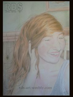 Anna L. - Redhead portrait drawing www.rds-art.weebl... #redhead #ginger #drawing #pencil