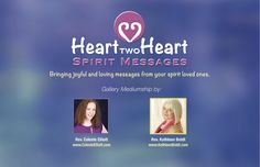 Join us! May 13, 2016 & June 11, 2016  www.HearttwoHeart.Eventbrite.com www.KathleenBoldt.com
