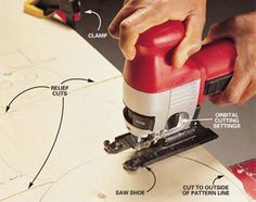 Use the versatile jigsaw to cut lumber, plywood, metal, and tile.